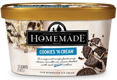 Homemade Brand Cookies 'n Cream Ice Cream