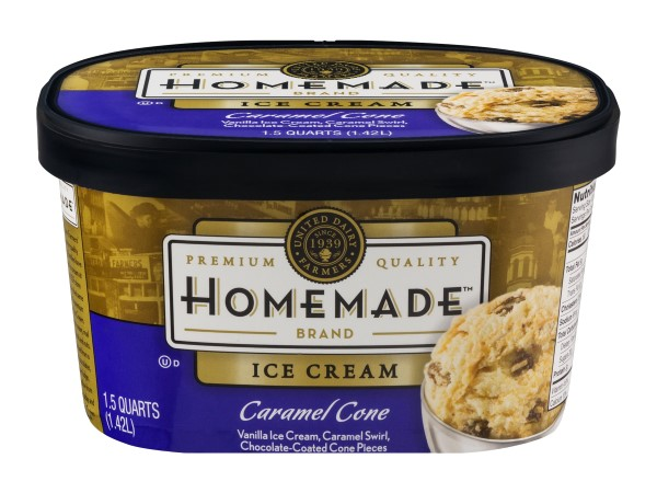 Homemade Brand Caramel Cone Ice Cream