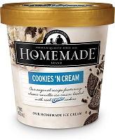 Homemade Brand Cookies & Cream Ice Cream